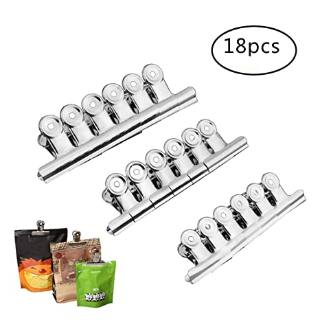 Amazon.com: Chip bolsa Clips Alimentos Bolsa Clips de acero ...