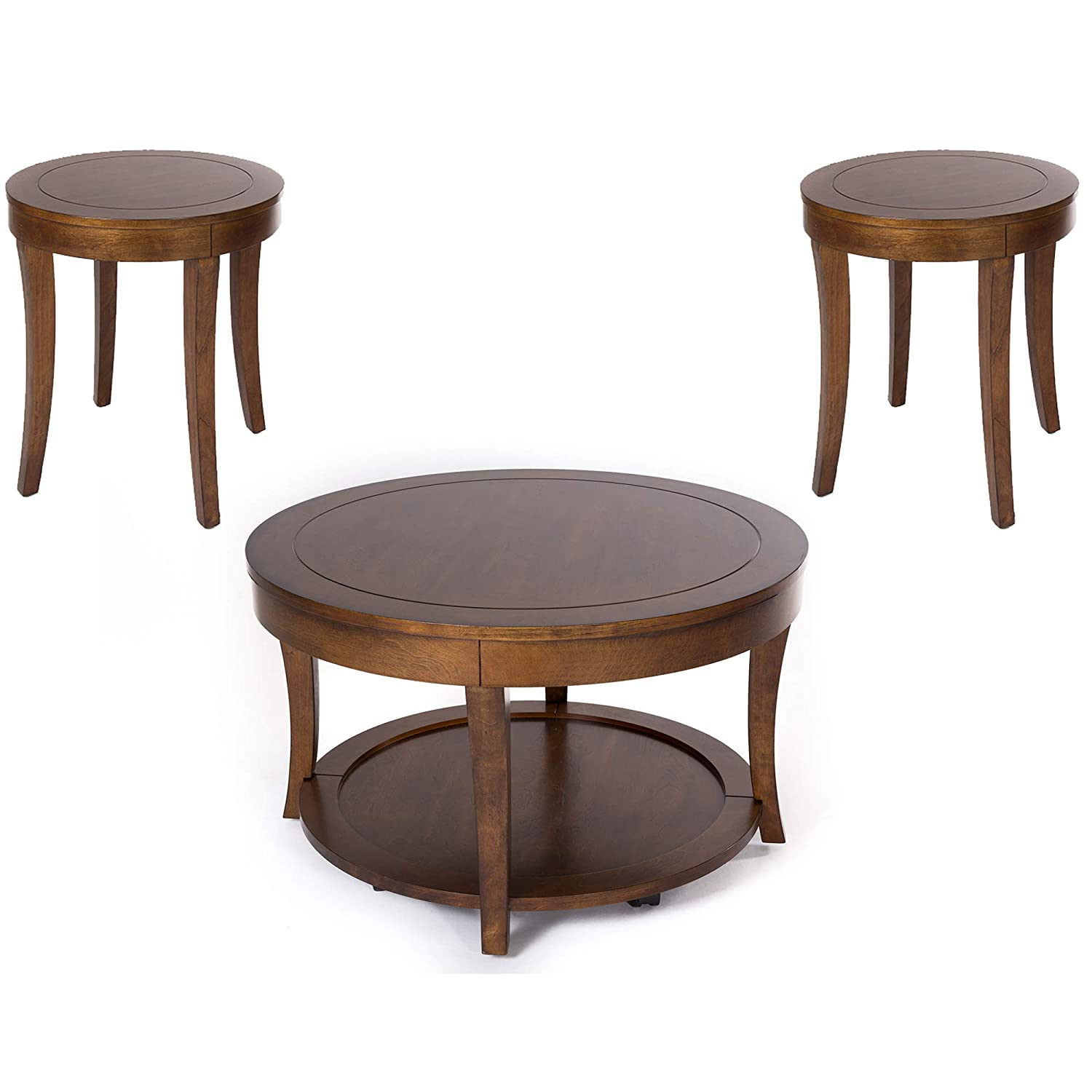 Liberty Furniture Industries Casual Living Occasional 3-Pack Tables, W32 x D32 x H19, Cherry