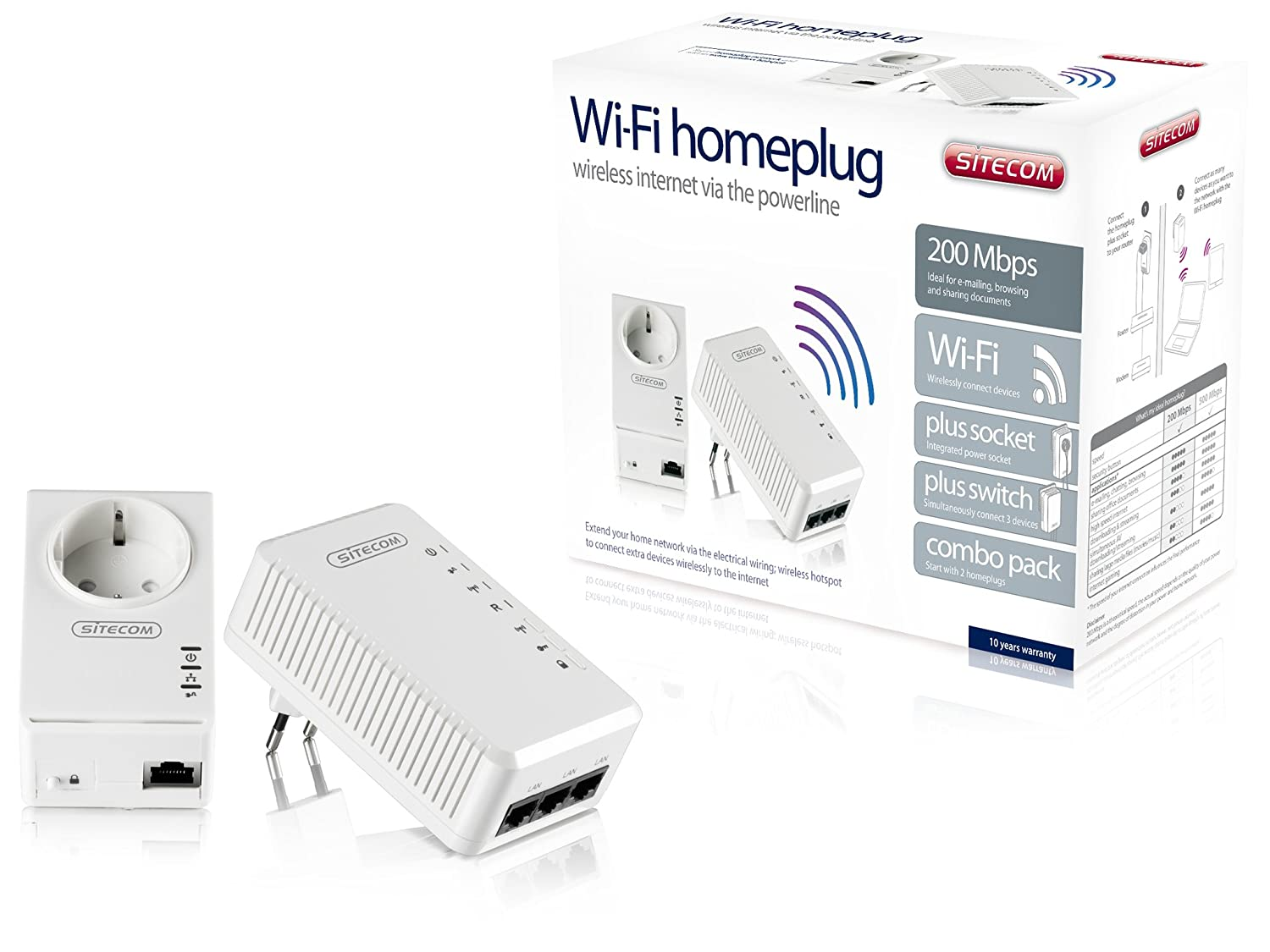 Sitecom Ln531 Wifi Homeplug 200 Mbps Combo Pack Wiring Your House For Internet Electronics