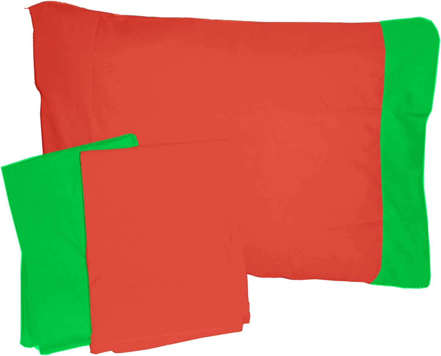 Baby Doll Bedding Solid two tone Toddler//Crib Sheet and Pillow Sham Set Orange//Apple 501css-orange//apple