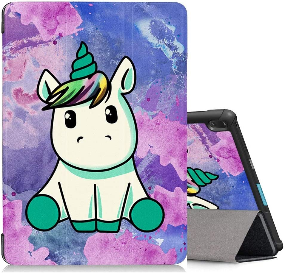 """Eouine Case for Lenovo Tab E10 10.1"""" 2019 TB-X104F, Slim Lightweight Premium PU Leather with Pattern Smart Trifold Stand Cover with Auto Wake/Sleep Function for Lenovo Tab E10 Tablet, Unicorn"""