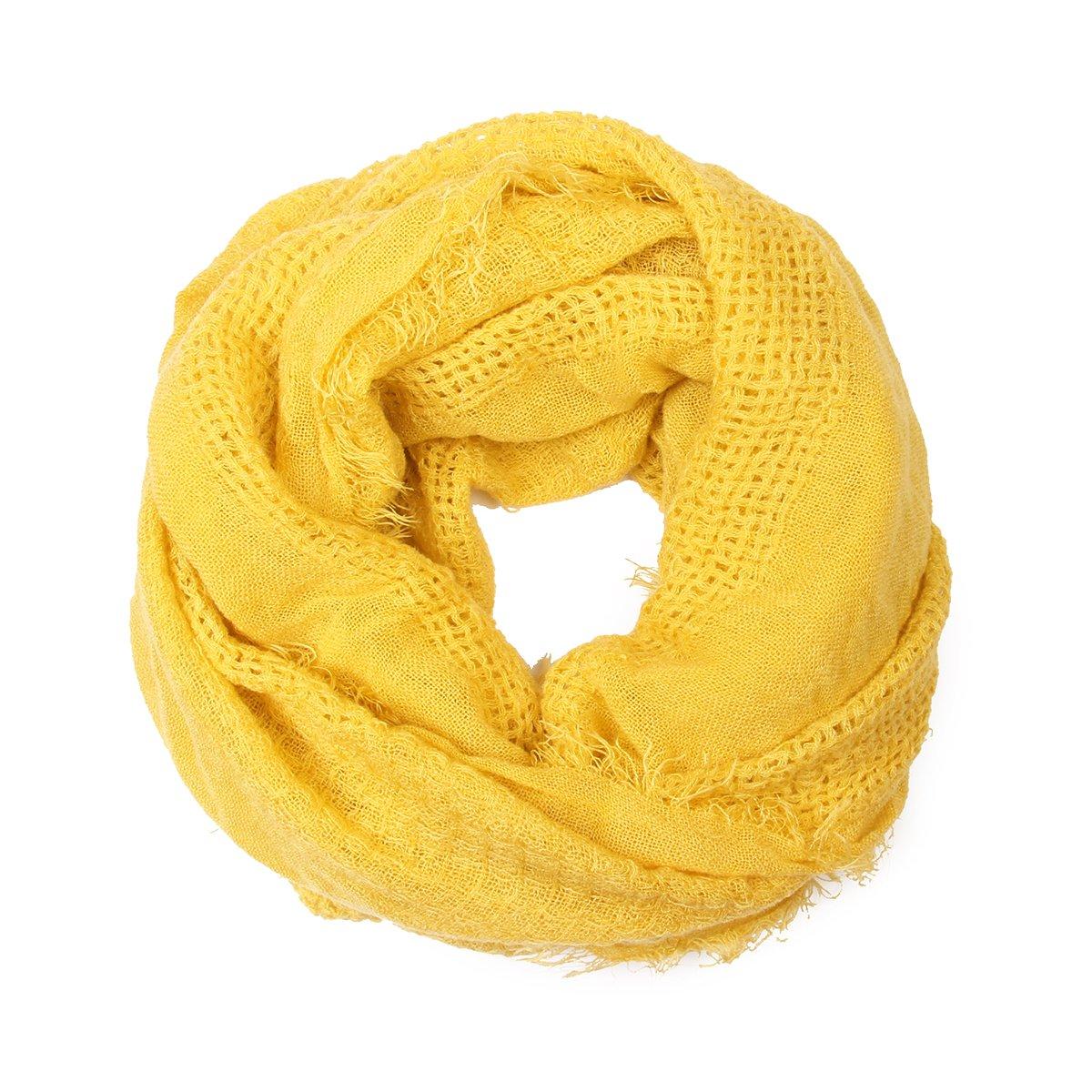 Riah Fashion Women's Soft Fall Infinity Scarf (Mustard)
