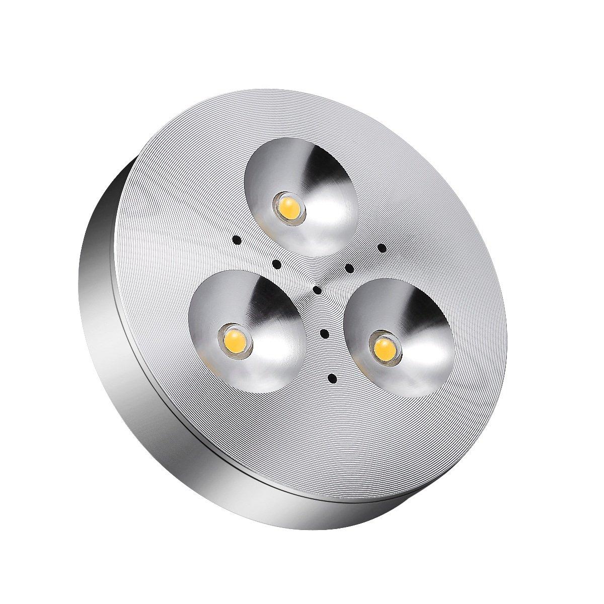 TryLight LED Under Cabinet Lighting 240lm Under Counter Light Closet Lighiting DC 12V Cabinet Light for Kitchen, Shelf, Shop and Exhibition Wardrobe 3000K Warm White (1 Pack)