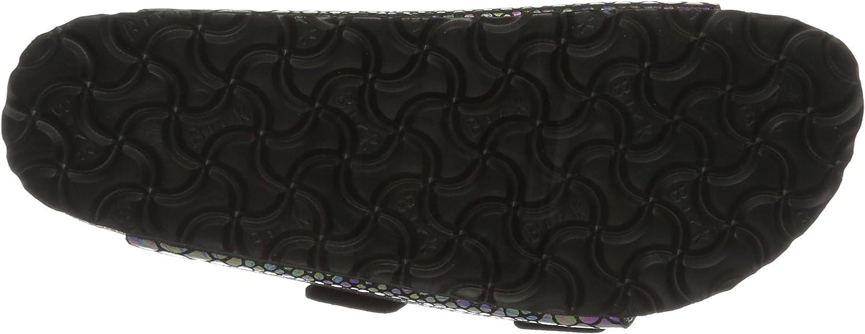 Birkenstock Arizona, Sandales Pour Les Hommes , Étroit Multicolore Shiny Snake Black Multi