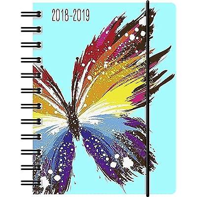 1 Agenda scolaire Papillon - Spirales - Semainier - 18 mois - 2018/2019