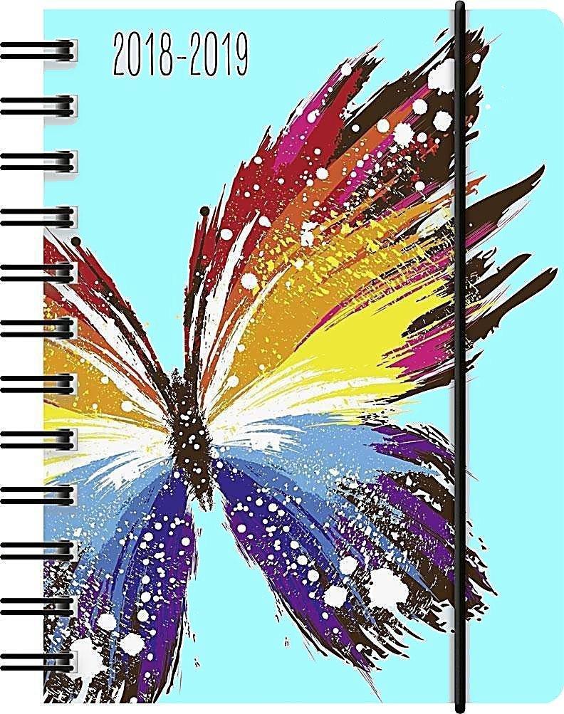 1 Agenda scolairePapillon - Spirales - Semainier - 18 mois - 2018/2019 BRU