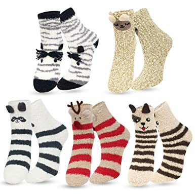 ea65a365bb345 Women Socks Winter - Christmas Socks, Cosy Floor Bed Socks For Ladies  Fluffy Socks,