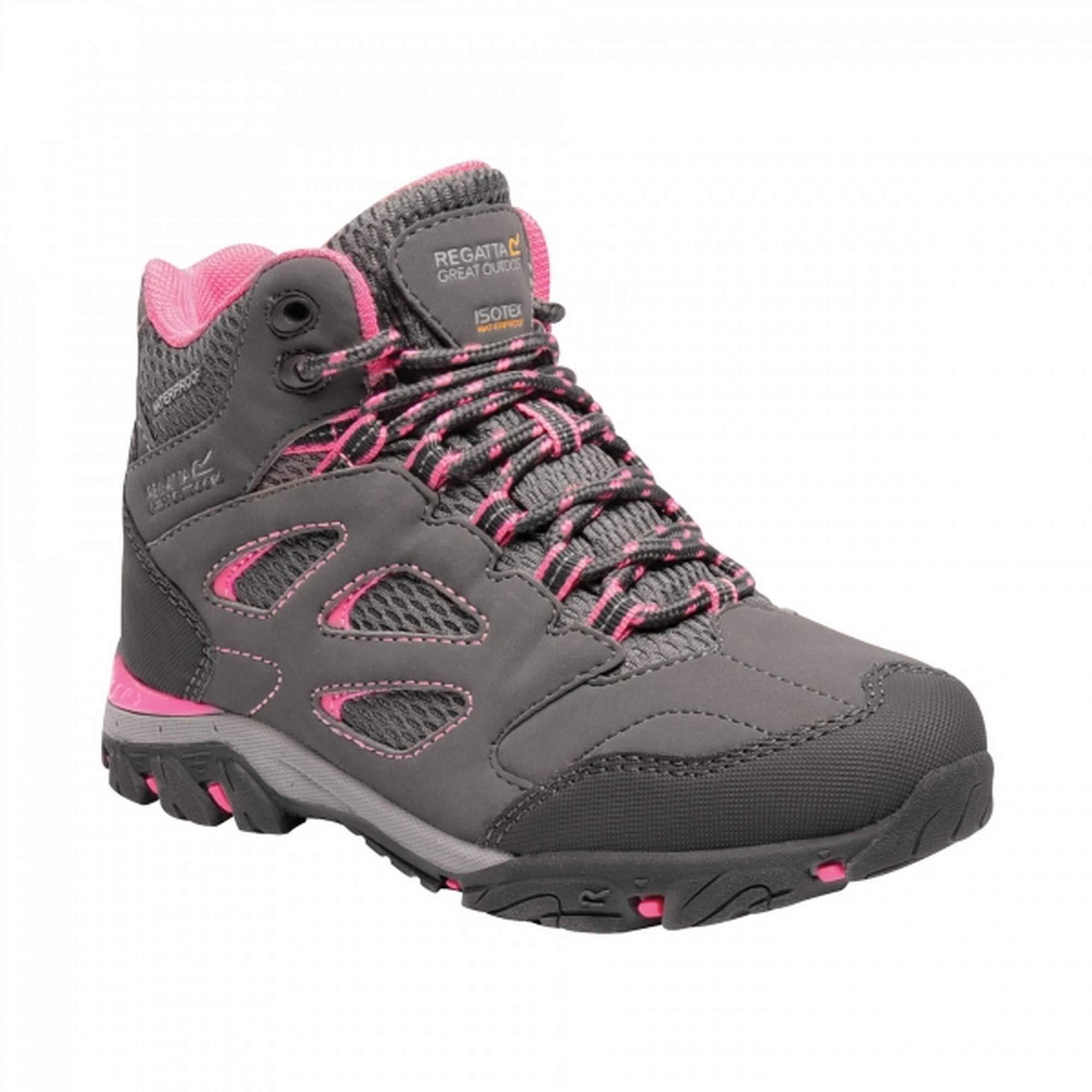 Regatta Childrens/Kids Holcombe IEP Junior Hiking Boots (10 M US Toddler) (Steel/Tulip)