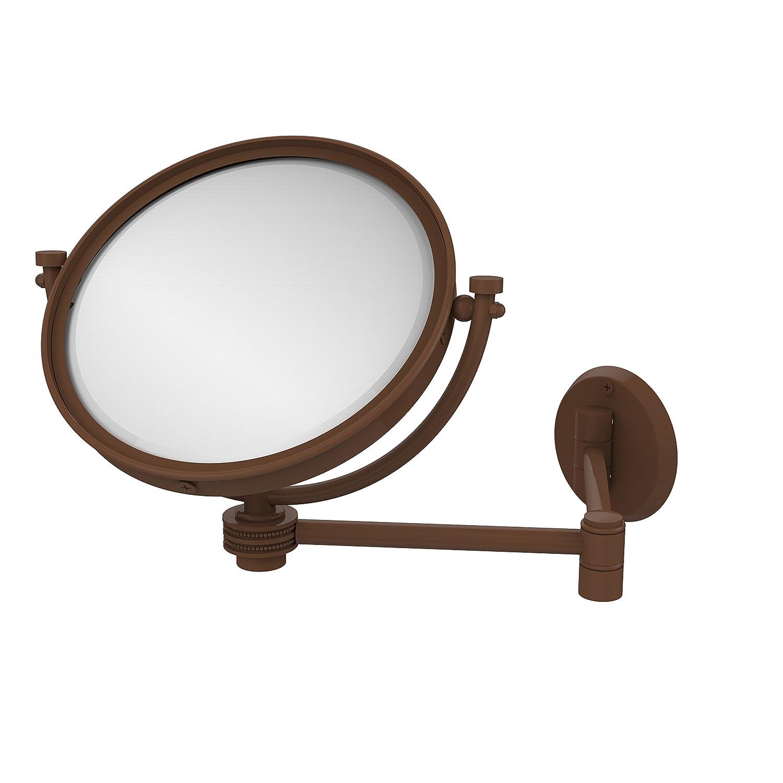 Allied真鍮8で。壁マウントExtendingメイクアップミラー2 x倍率with点線アクセント WM-6D/2X-UNL B00Y3AEJP0 ブロンズ(antique bronze) ブロンズ(antique bronze)