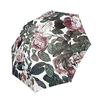 Personalizado Vintage jardín plegable paraguas lluvia paraguas de viaje compacto