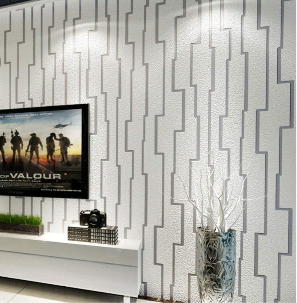 Papel Pintado de Pared Líneas abstractas gamuza piel de ciervo plata, 3D Moderno No-Tejido de Papeles Muro Decoración de Pared para Dormitorio,TV Telón de Fondo,Hotel, rodar 0.53x10m: Amazon.es: Bricolaje y herramientas