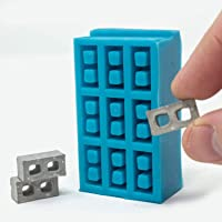 Mini Materials - 1:24 Scale Cinder Block 9pc Mold