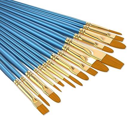 Acryl Ölgemälde usw Perfektes 9X Künstlerpinsel Nylon Pinsel für