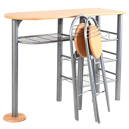 Amazon.com - Eosphor in US 3 PCS Pub Kitchen Set 1 Table and ...