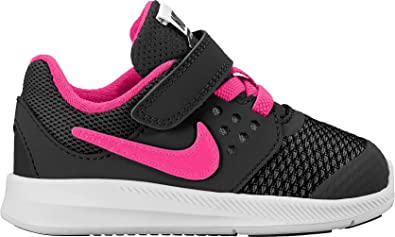d68a13b1d9d9 NIKE New Baby Girl s Downshifter 7 Athletic Shoe Black Hyper Pink 5