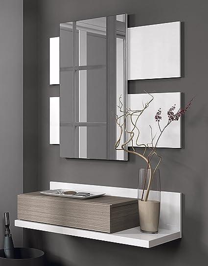 Habitdesign Mueble recibidor con cajn y espejo incluido color