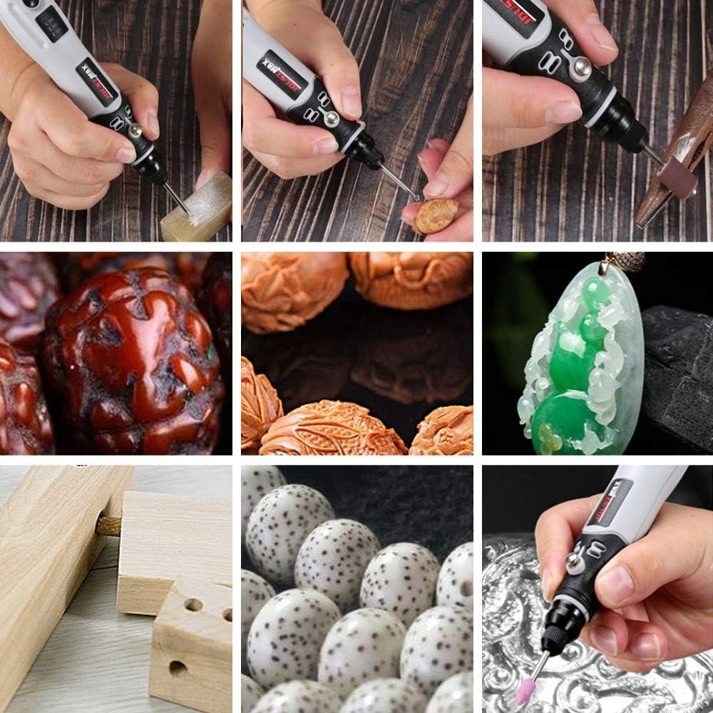 Elikliv USB 4.2V DC Rotary Tool Cordless Grinding Machine Mini Wireless Grinding Variable Speed Tools Kit Drill Engraver Pen for DIY Milling Engraving Polishing