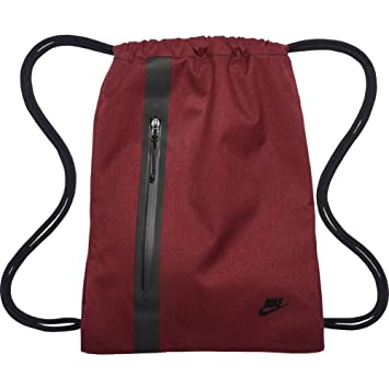 c26de96bbf Nike Gymsack Sport Bag - Sportswear Tech maroon black black  Amazon.co.uk   Luggage