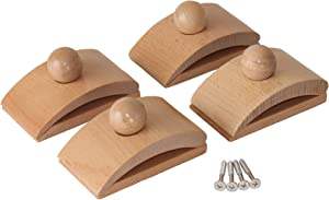 Classy Clamps Wooden Quilt Hangers – 4 Large Clips (Light) and Screws for Wall Hangings. Hang up and Display Quilts, Tapestries, Rugs, Fiber Art, and More!
