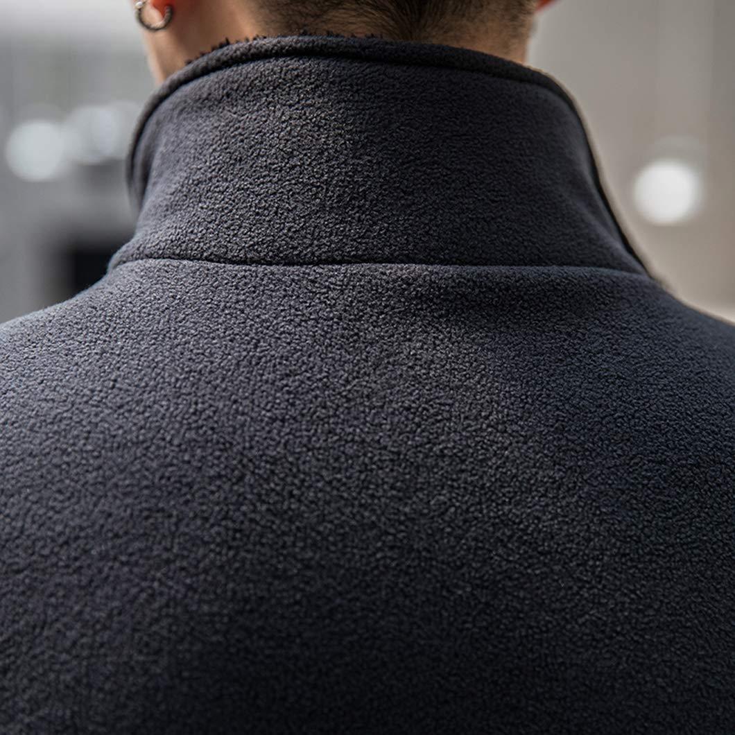 Duyang Mens Casual Outdoor Full Zip Sherpa Lined Fleece Jackets Active Coats