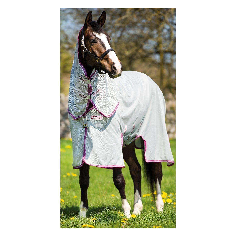 Horseware Fliegendecke Amigo Bug Buster Vamoose Silver/Purple & Mint 115-160