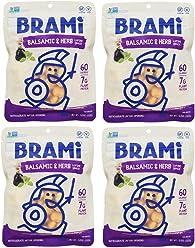 BRAMI Lupini Bean Snack, Balsamic & Herb | Plant Protein, Vegan, Gluten-Free, Low Calorie, Keto, Lightly Pickled, Mediterranean Legume | 5.3 oz (150g), 4 Count