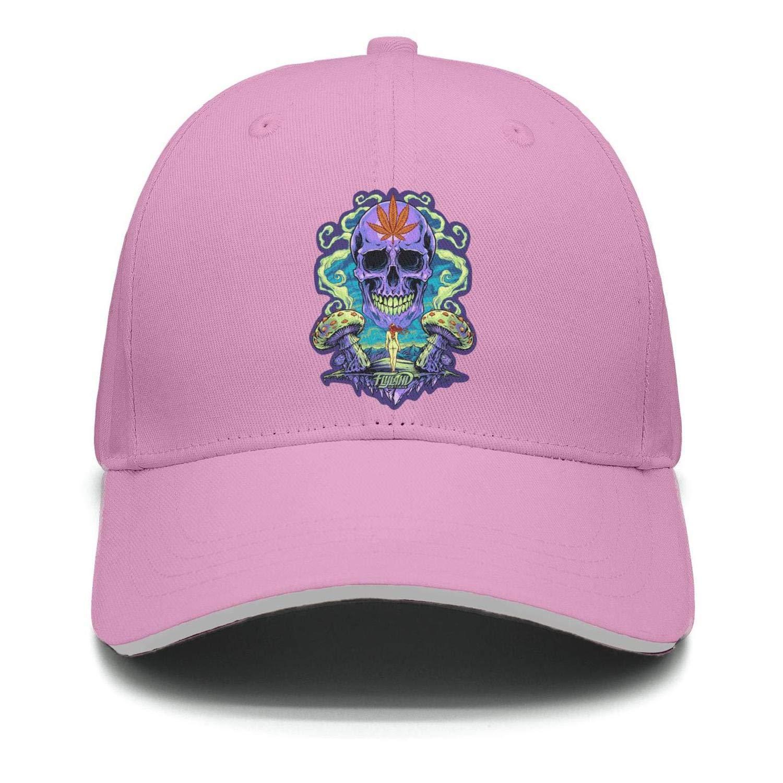 Marinas Purple Skull Cannabis Unisex Baseball Hat Adjustable Dad Cap Hip Hop caps