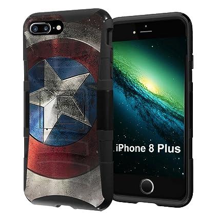 Amazon.com: iPhone 8 plus funda, capsule-case híbrida de ...