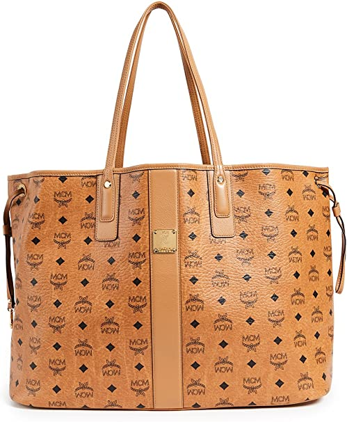 MCM Damen Reversible Shopper Project Large Cognac