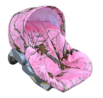 Infant Car Seat Cover Baby Slip Pink Camo