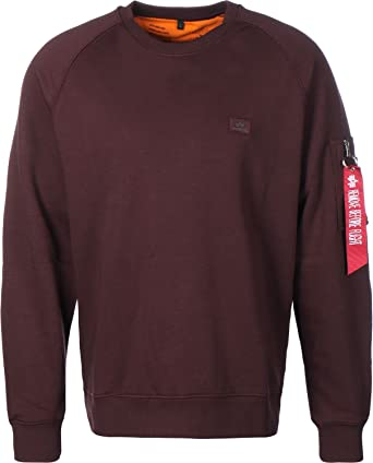 ALPHA INDUSTRIES - Xfit - Sudadera - Deep Maron: Amazon.es: Ropa y ...