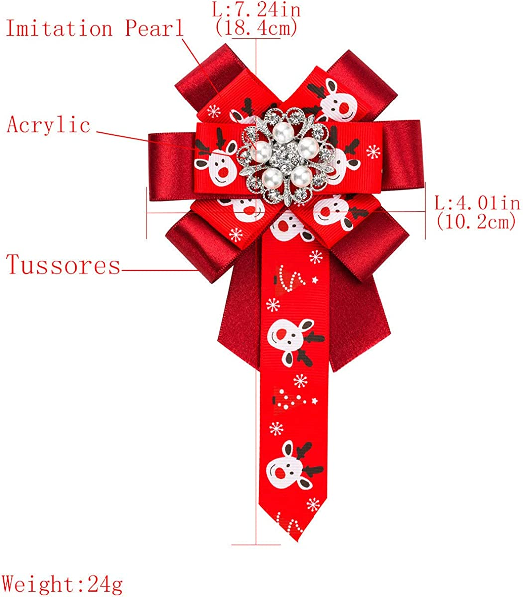 DDLLA Vintage Hand Weaving Pre-Tied Ribbon Neck Bow Tie Pin Broaches and Pins for Women Jewelry Womens Accessories for Women Rhinestone Crystal Diamond Alloy Plating