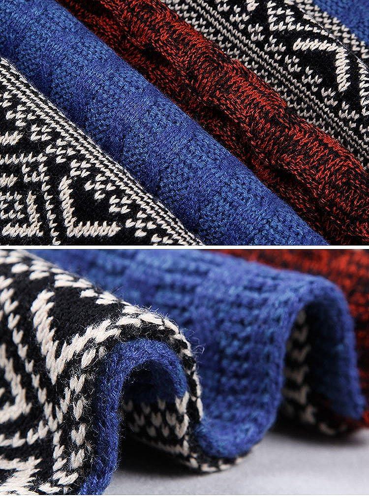 heekpek Bufanda de Hombre la Tela Escocesa cozy Lana Abrigo Del Mant/ón cuello bufanda Regalos para Hombre unisexo