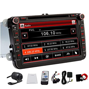 8 Pulgadas de Coches GPS DVD Reproductor de CD Radio ...