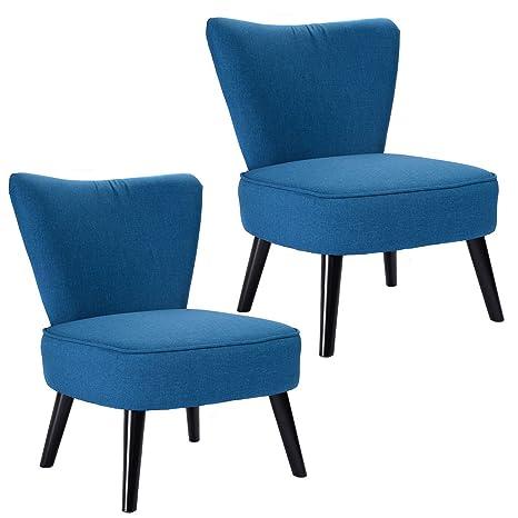 Amazon.com: giantex Set de muebles de 2 Armless Accent silla ...