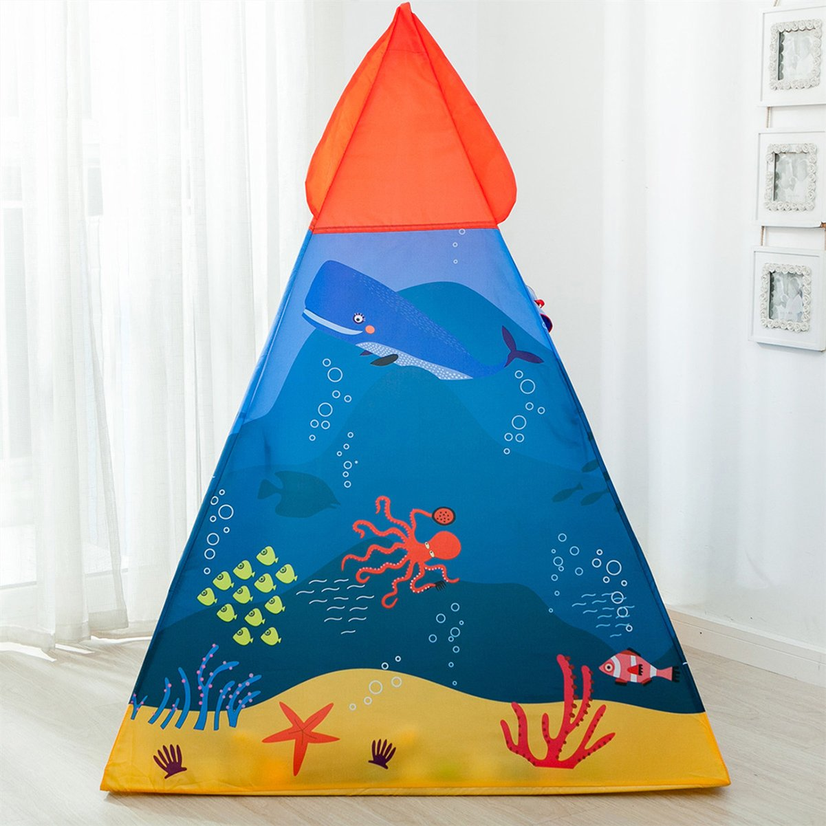 HAOCOO Kids Tent Pop Up Baby Toys Play Tent House Princess Prince House Castle Outdoor and Indoor as a for 1-8 Years Old Kids Boy Girls Toddler Infant Princess Castle