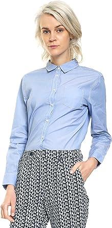 Benetton 5SC55Q6L4, camisa Mujer, Azul (Blue), L(UK): Amazon.es: Ropa y accesorios