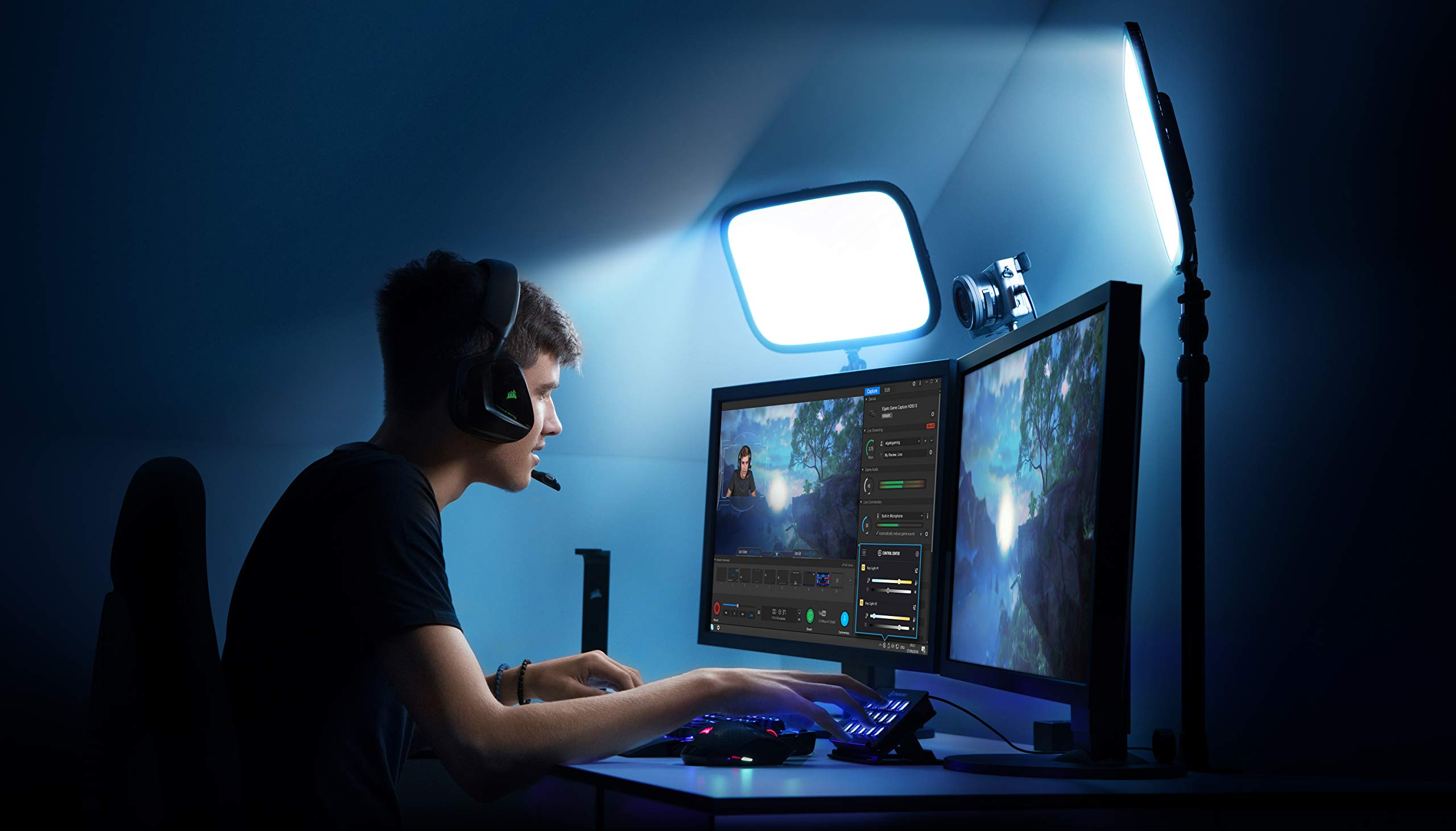 Elgato Key Light - Professional Studio LED Panel with 2500 Lumens, Color Adjustable, App-Enabled - PC and Mac by Corsair (Image #5)