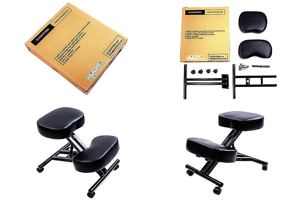 SLEEKFORM Ergonomic Kneeling Chair, Adjustable Stool For Home and Office - Thick Comfortable Cushions