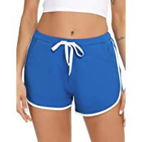 iClosam Pantalones Deportivo Corto Mujer Pantalones Chandales de Algodón Short Casual para Yoga Gimnasio Ejercicio Playa