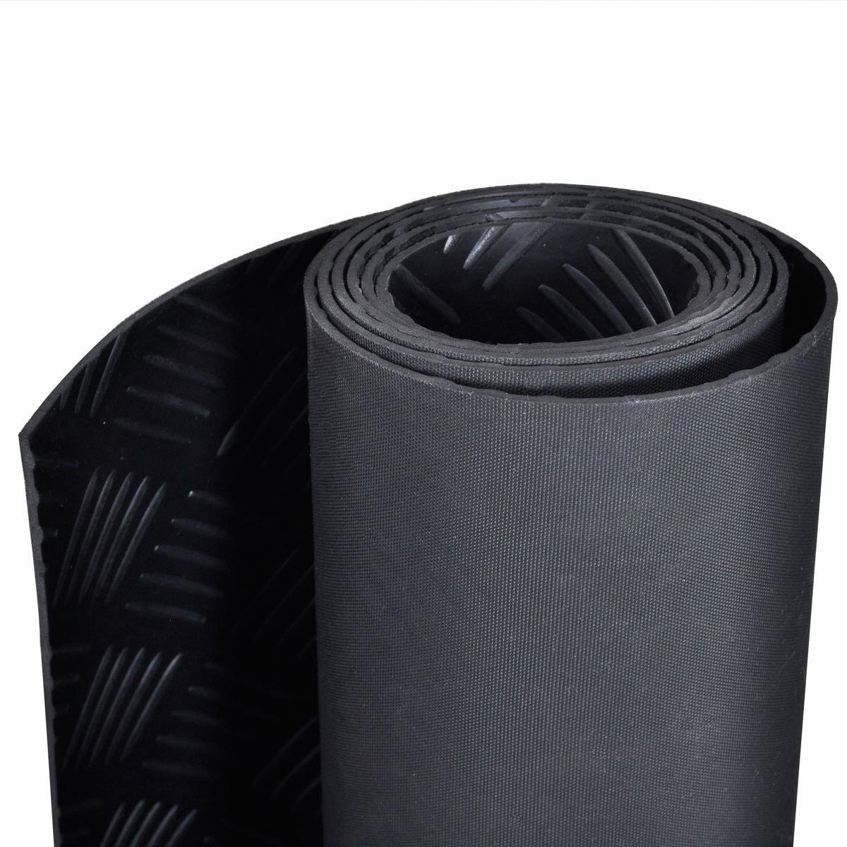 Antirutschmatte Gummimatte Schutzmatte Noppenmatte Bodenmatte mit Noppen Gummil/äufer 120cm Breit 3mm stark Schwarz 200 x 120cm