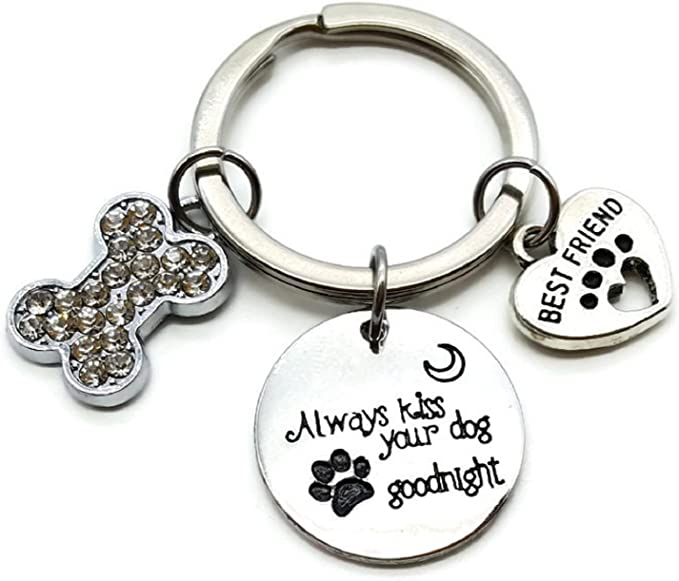 QUALITY DOG BREED KEY RING BAG TAG CHARM GIFT 16 BREEDS FAUX LEATHER CHOOSE