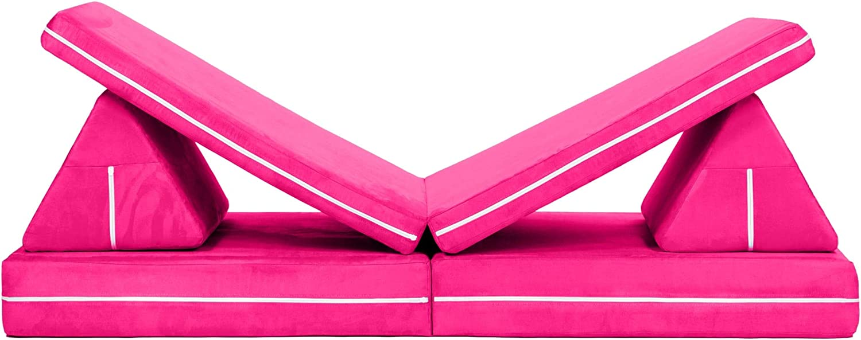 Jaxx Zipline Playscape Imaginative Furniture Playset for Creative Kids, Fuchsia