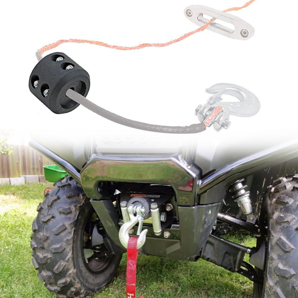 MOEBULB Winch Cable Hook Stopper Rubber Winch Line Stop Hook Saver with Allen Wrench for ATV UTV Winches