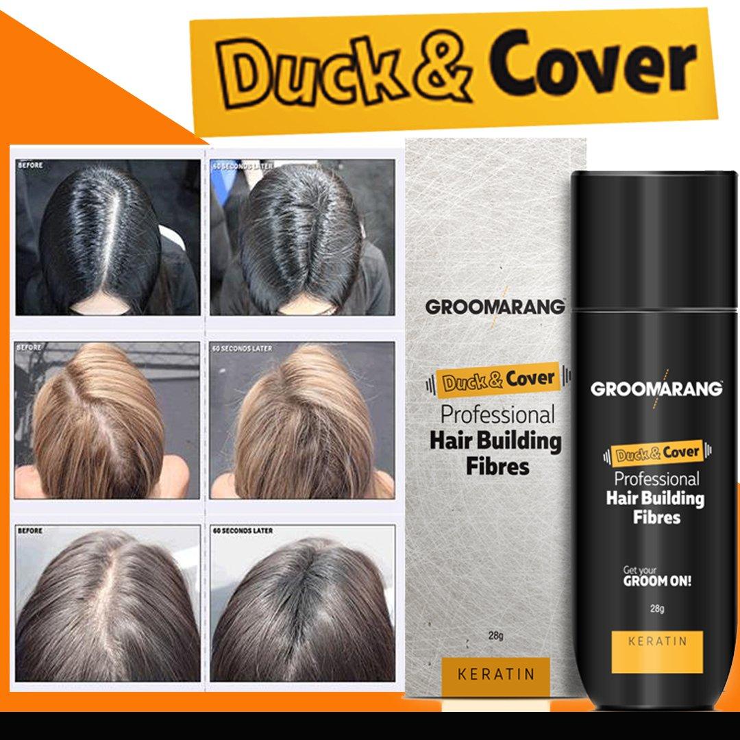 Groomarang Duck & Cover - Fibras profesionales de queratina para reconstrucción capilar - 28 g - Hasta 30 usos: Amazon.es: Belleza
