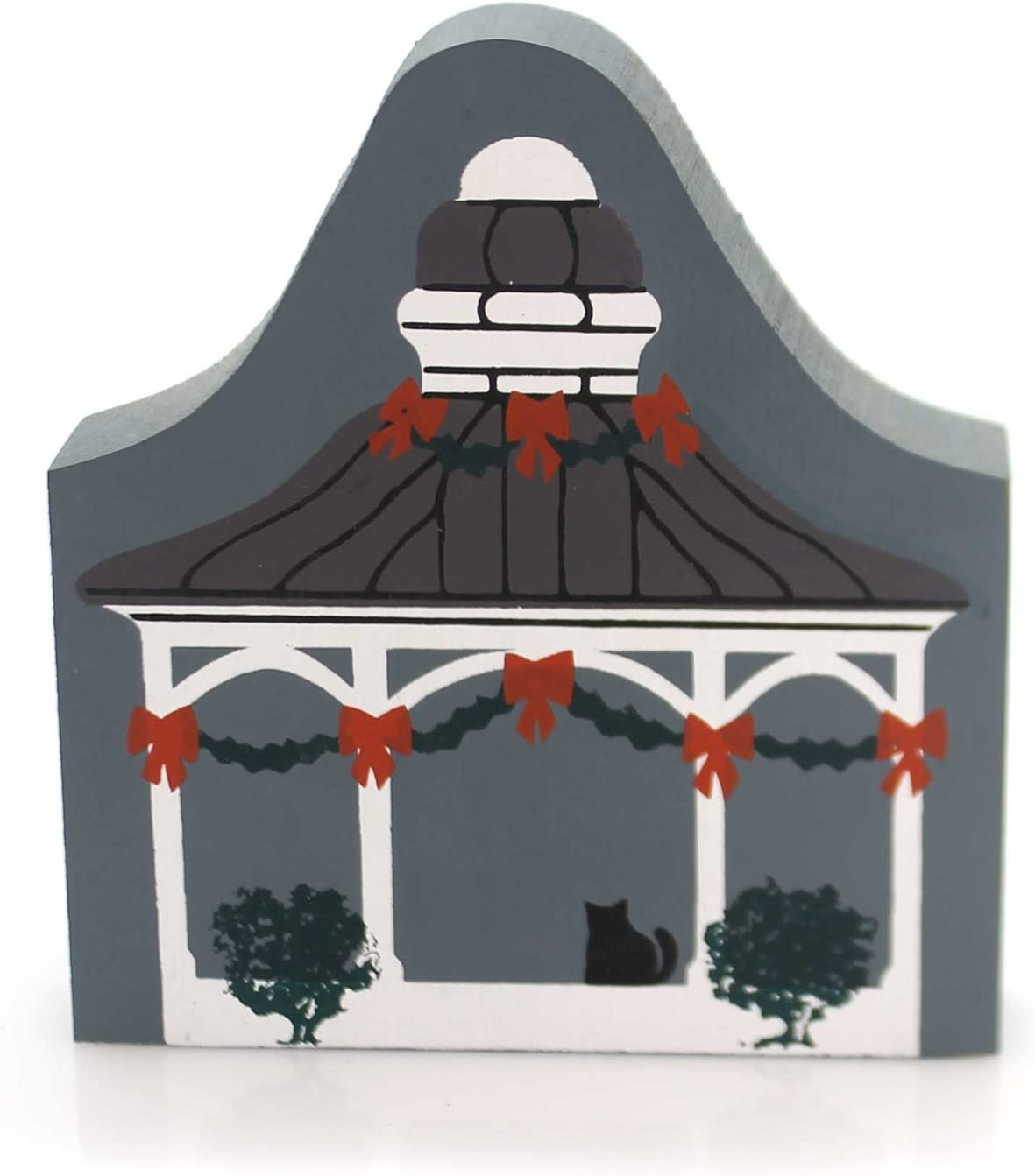 CATS MEOW VILLAGE Reversible BANDSTAND Wood Retired Christmas 118