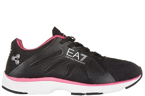 Emporio Armani EA7 zapatos zapatillas de deporte mujer nuevo c-cube vigor negro EU 37.13 278068 7P258 00020: Amazon.es: Zapatos y complementos