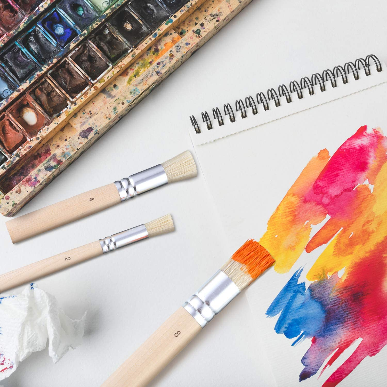 Hölzerner Schablonen-Bürsten-Ölmalpinsel für Malerei Ölmalerei
