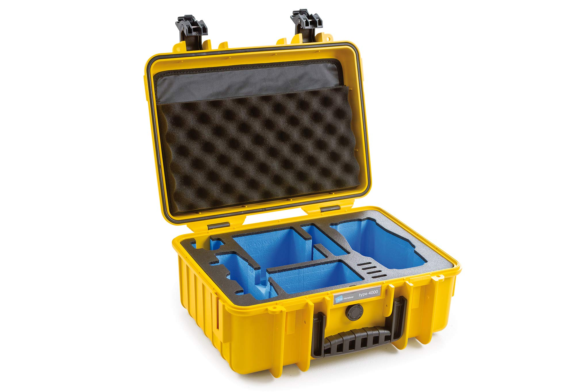 B&W Outdoor.Cases Type 4000 with DJI Mavic 2 Inlay Case for DJI Mavic 2 (Pro/Zoom), DJI Smart Controller, Fly More Kit and ND Filter - The Original by B&W International GmbH