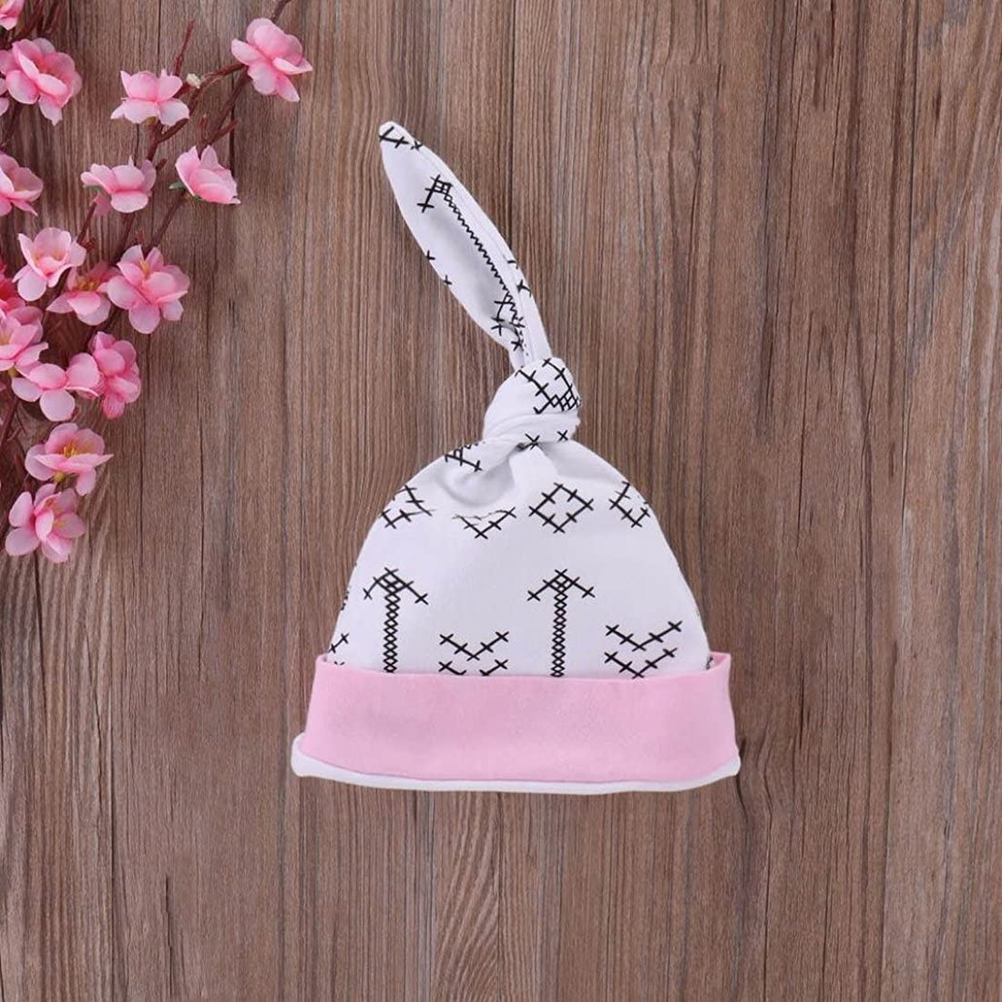 Headband GRNSHTS Baby Girls 4Pcs Outfits Letter Print Romper Arrow Pants Z Pink, 100//12-18 Months Hat